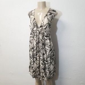 NEW EN FOCUS Brown Cream Floral Dress 1X